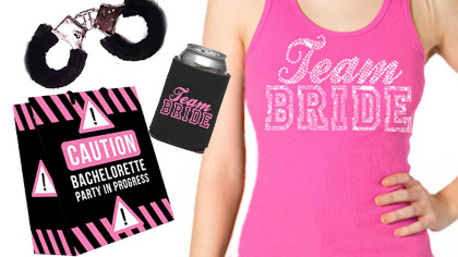 bachelorette party supplies tank and gift bag