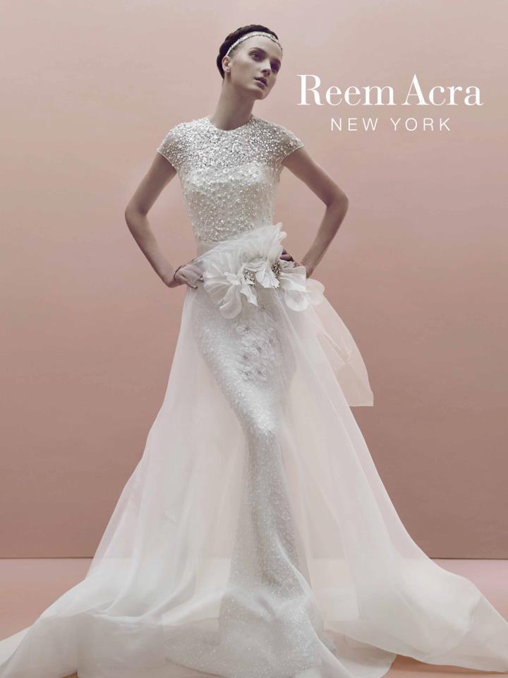 Beaded Mermaid Wedding Dress By Reem Acra
