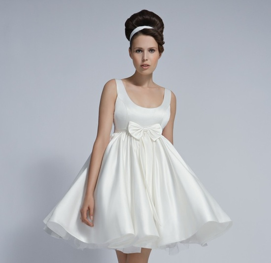 Marionette little white wedding reception dress 2