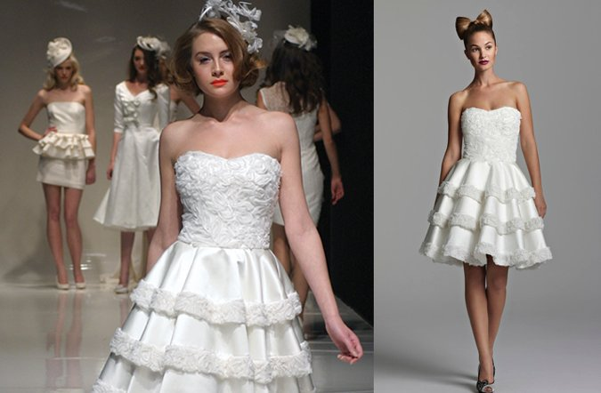 short wedding reception dress girly ruffles resized
