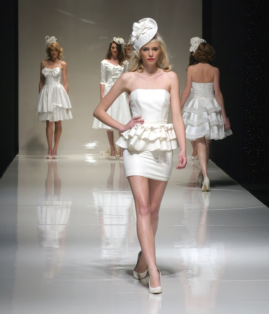 short wedding reception dresses tobi hannah bridal designers 2012