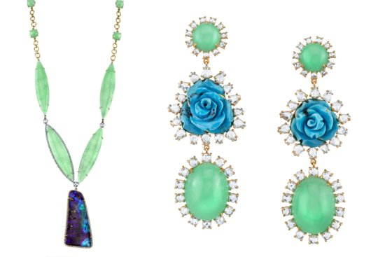 photo of Wedding Jewelry Worth the Splurge Irene Neuwirth Blue and Jade