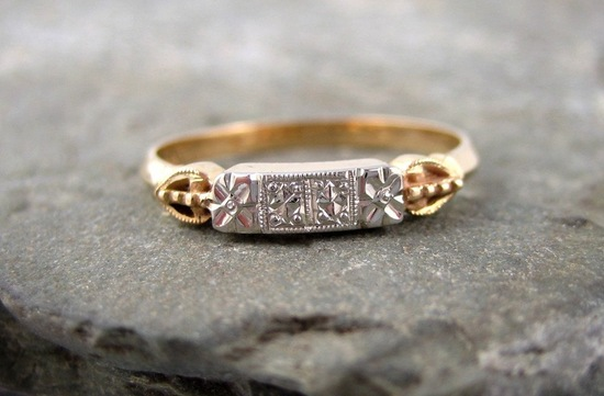 Vintage wedding band from the 1960s