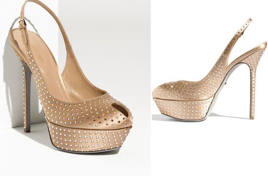 retro satin platform wedding heels nude crystals