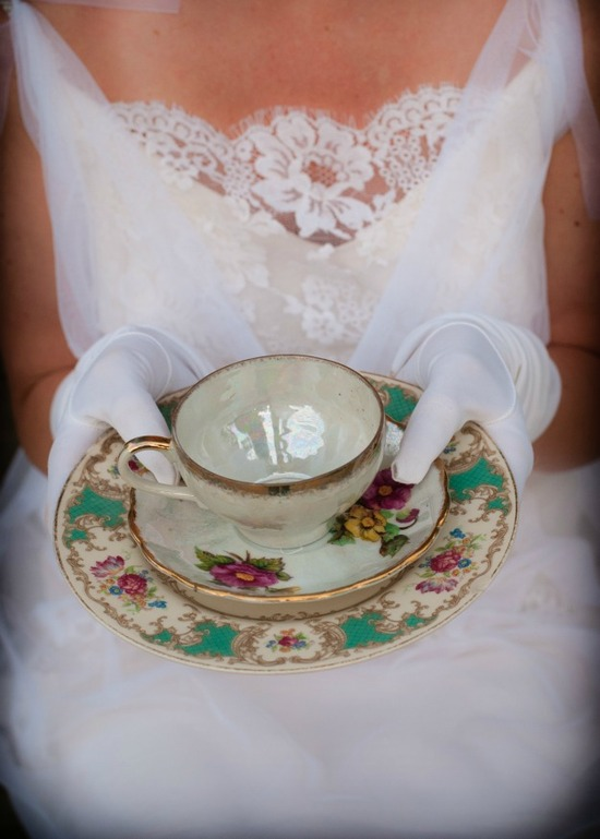 Downton Abbey inspired wedding tea time styled shoot