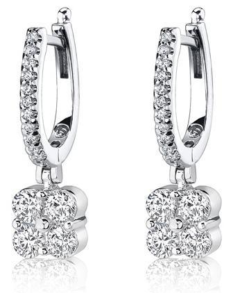 oval-four-stone-cluster-diamond-platinum-hoop-drop-earrings-3119