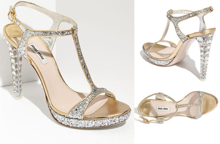 Sparkly Miu Wedding Shoes
