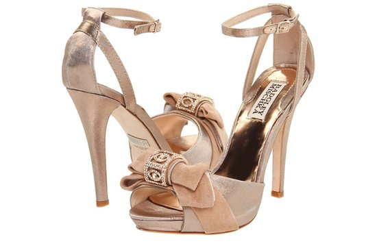 badgley mischka wedding shoes blush suede platforms