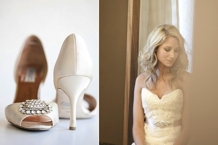 Destination wedding in the Dominican Republic Shoes and Bridal Portrait