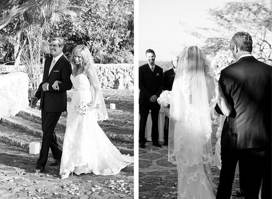 Destination wedding in the Dominican Republic walk to the aisle