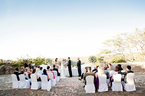 Destination wedding in the Dominican Republic outdoor ceremony