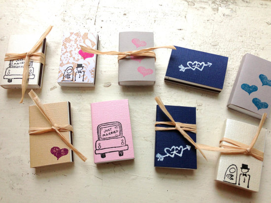 Custom matchbooks for wedding guest favors