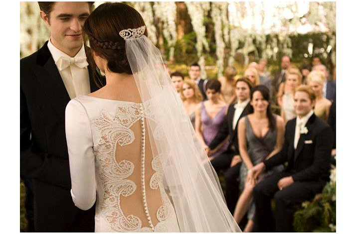 Breaking dawn twilight wedding romantic lace wedding dress junglespirit Images