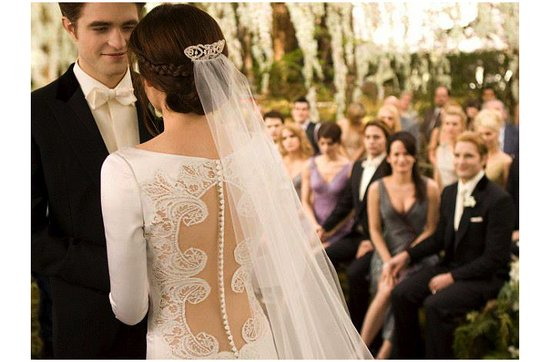 Breaking Dawn Twilight Wedding- romantic lace wedding dress