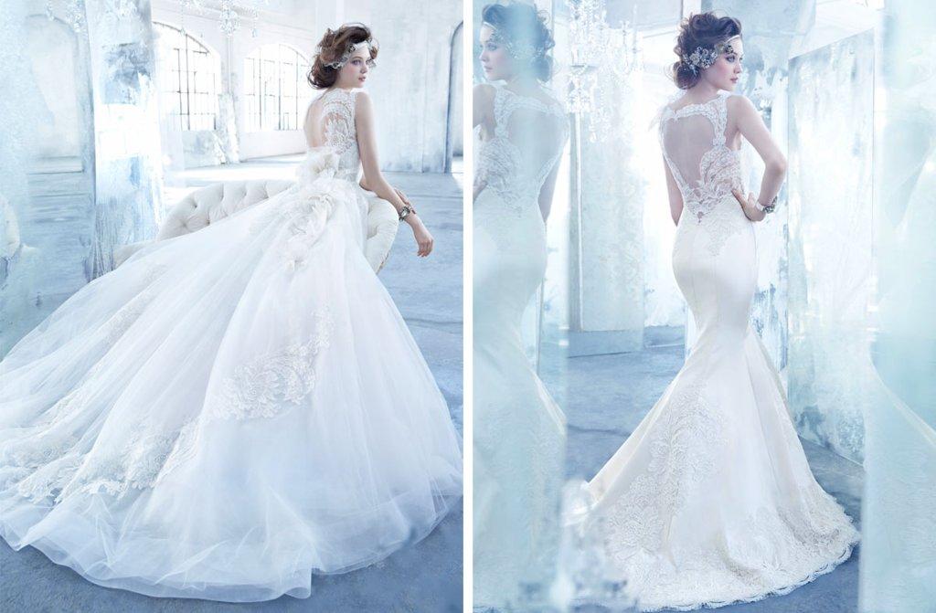 Lazaro wedding dresses Fall 2013 Bridal statement backs