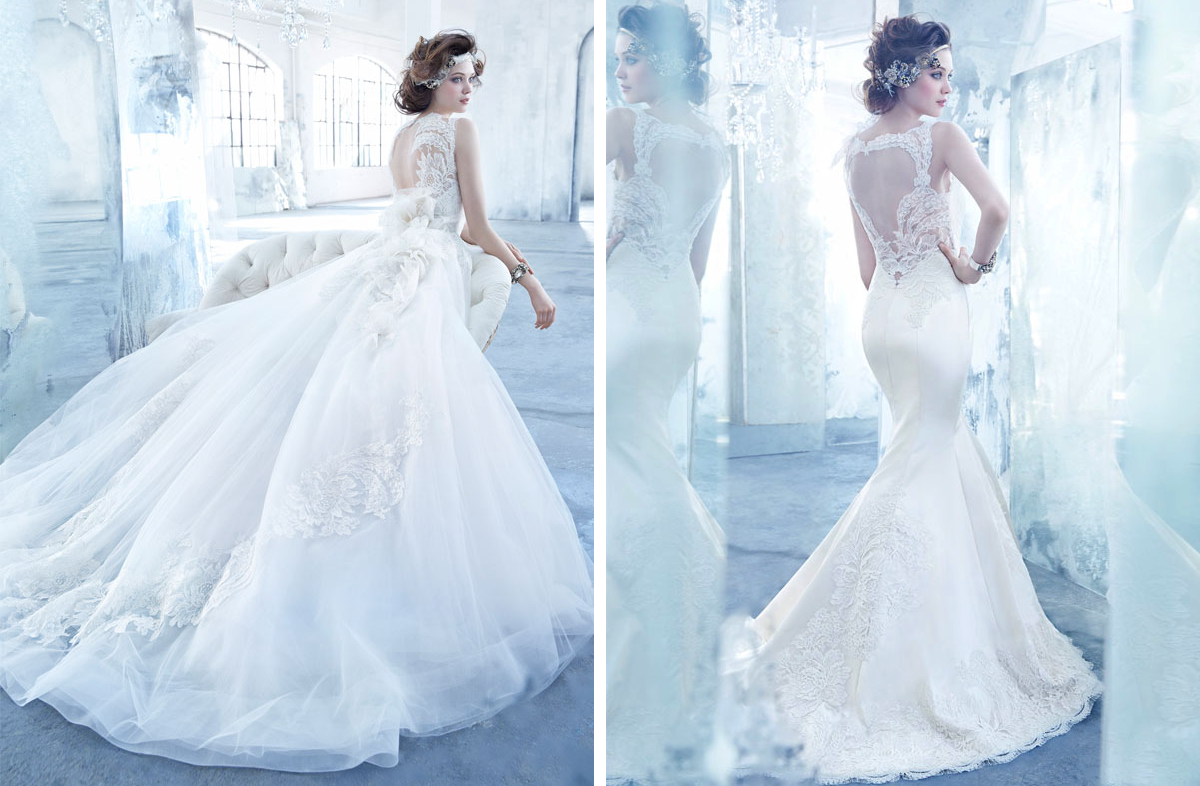 Lazaro Wedding Dresses Fall 2013 Bridal Statement Backs