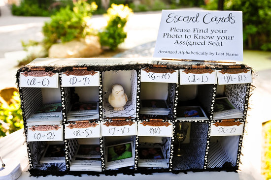 Custom rustic wedding escort card box