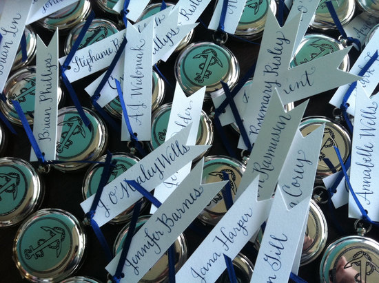 Nautical themed wedding escort cards