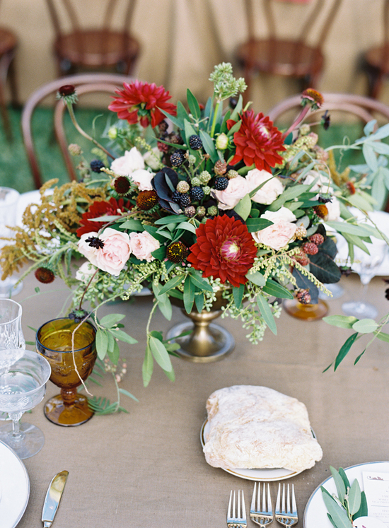 Rustic elegant wedding reception in Ojai, CA