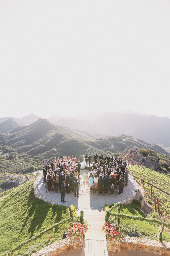 Stunning Malibu wedding with unbeatable views