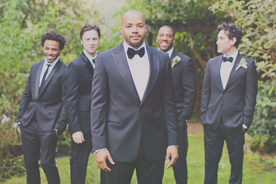 Cacee Cobb + Donald Faison Hitched in LA - Bow Ties All Around