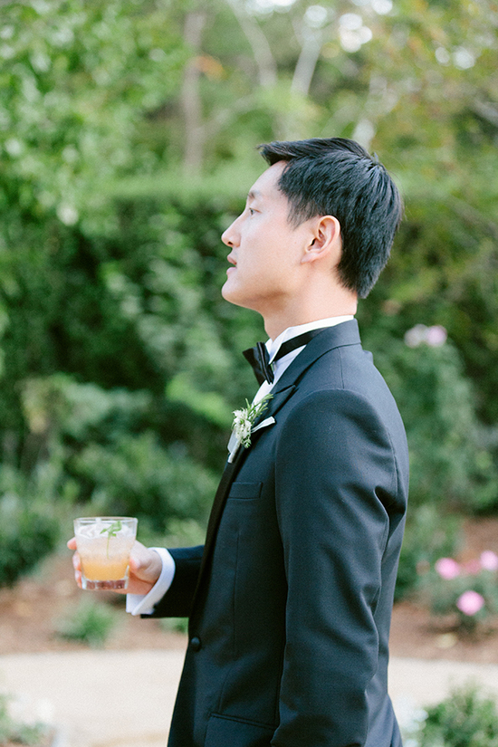 Sophisticated Silicon Valley Wedding - Groom at the reception