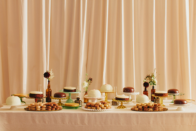 Sophisticated Silicon Valley Wedding - Reception sweets
