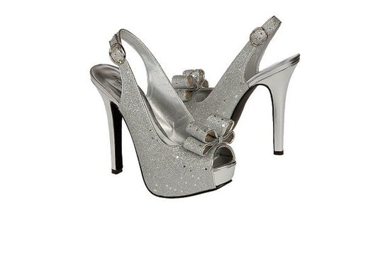 budget wedding shoes silver platform shimmer