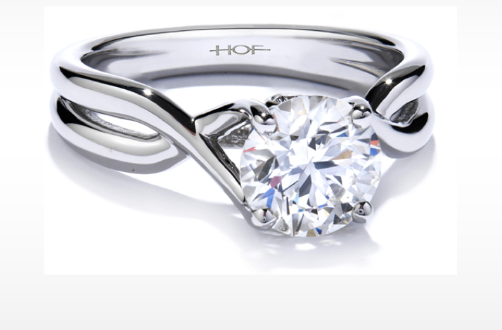 hearts on fire simple round diamond engagement ring