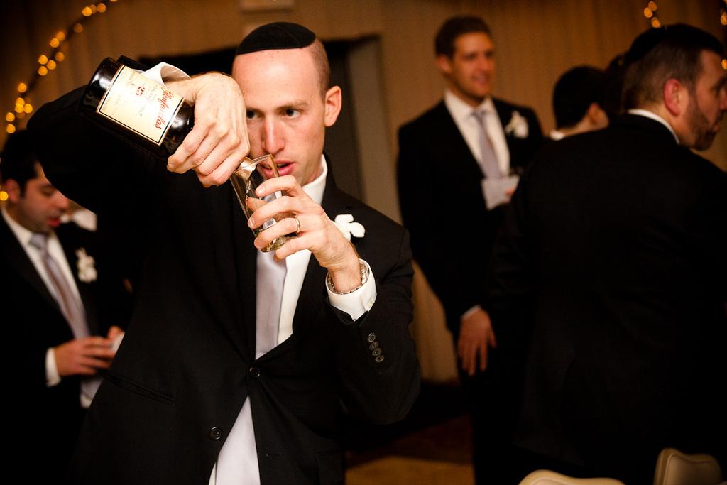 Jewish Wedding Reception Groom Gets Saucy
