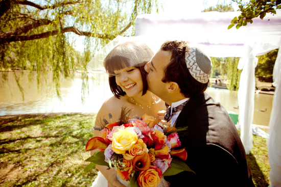 Fun outdoor Jewish wedding ceremony