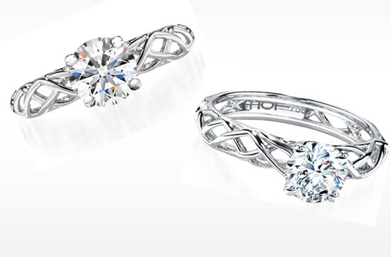 hearts on fire engagement ring set