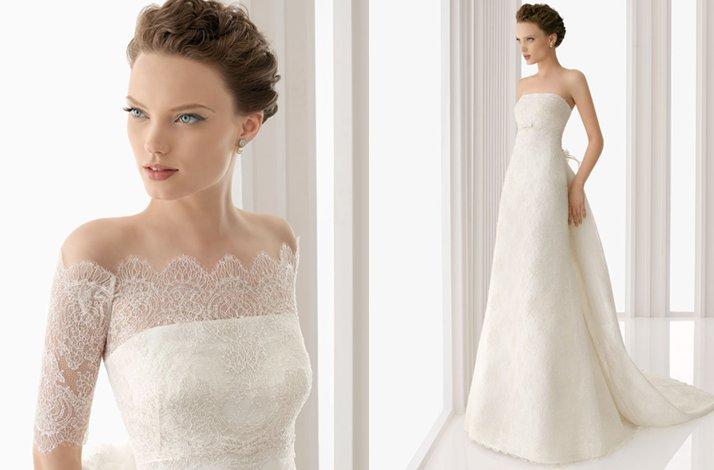 Off The Shoulder Lace Wedding Dress 2012 Rosa Clara