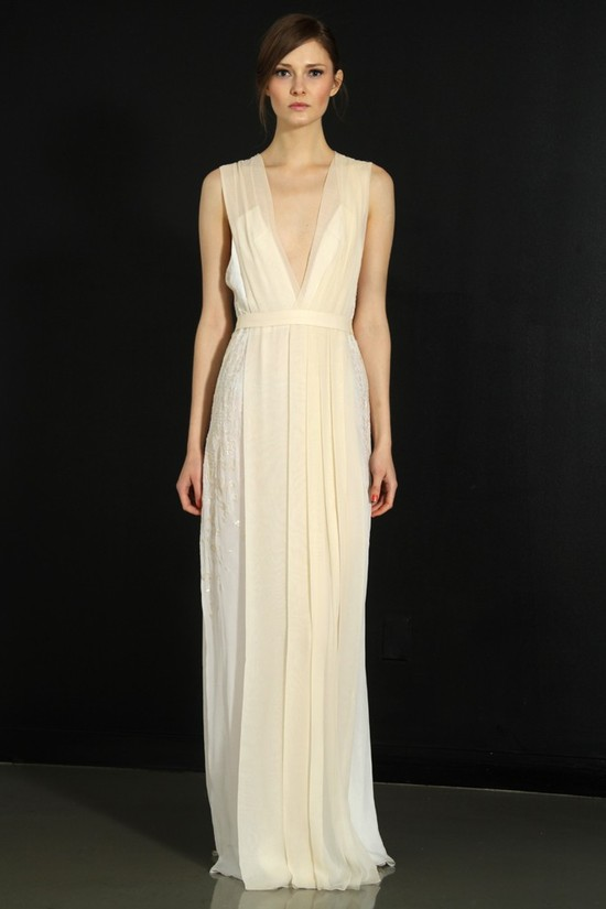 photo of J. Mendel wedding dress, Fall 2012- 2