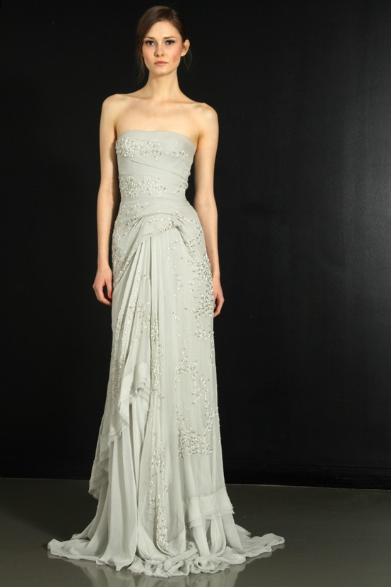 photo of J. Mendel wedding dress, Fall 2012- 3