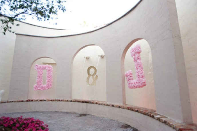 Peach-pink-wedding-initials-pom-poms.full