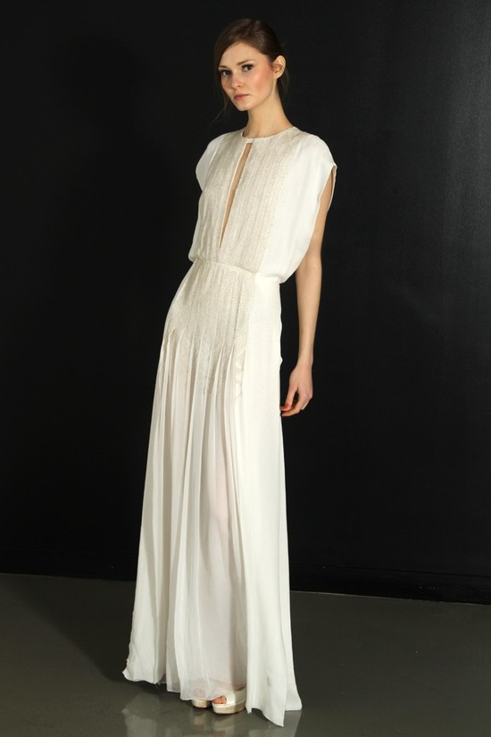 photo of J. Mendel wedding dress, Fall 2012- 5