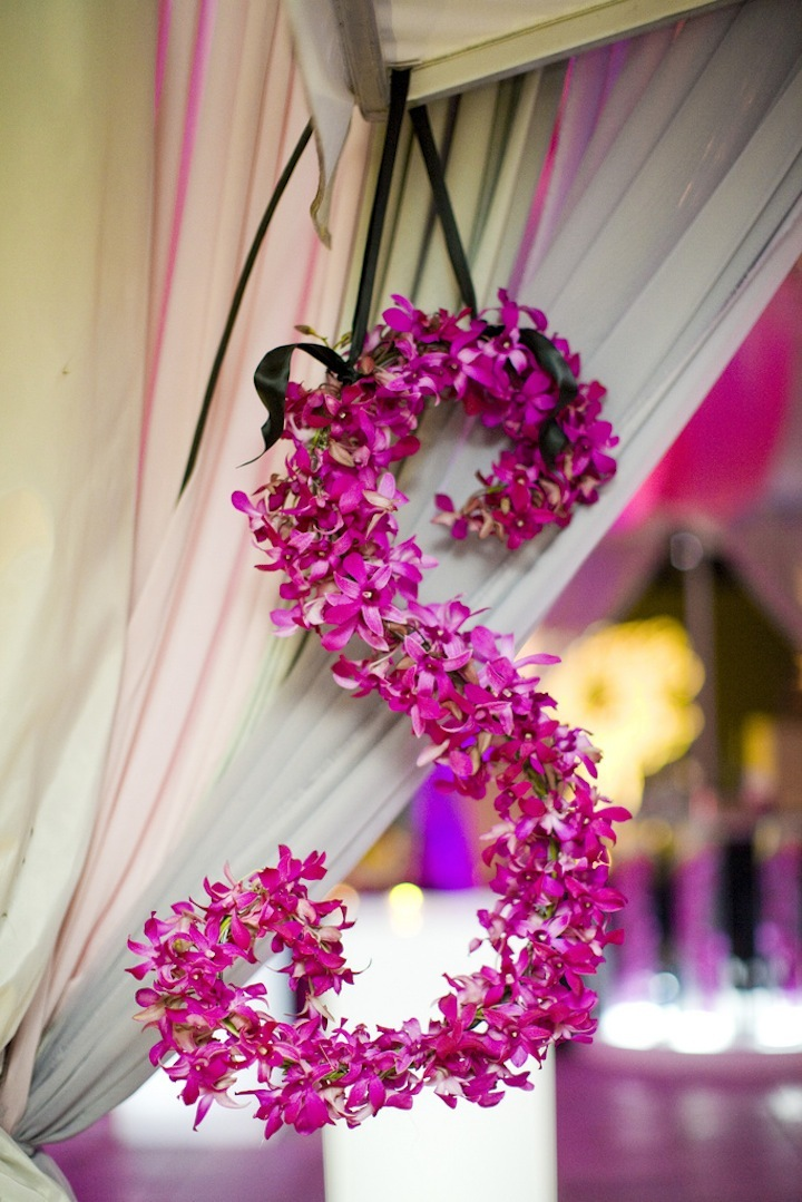 Hot-pink-orchid-wedding-initials-for-hanging-decor.full