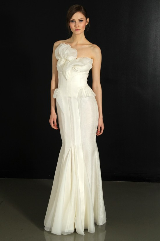 photo of J. Mendel wedding dress, Fall 2012- 1