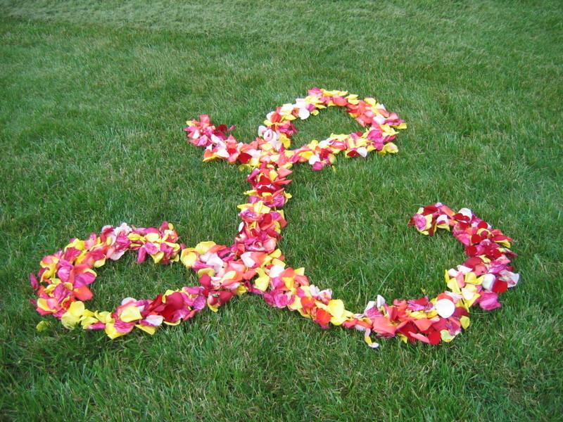 Rose-petal-wedding-initials-for-ceremony-aisle.full