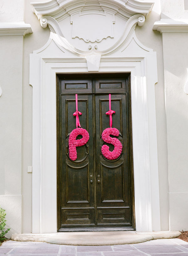 Hot-pink-floral-wedding-initials.full