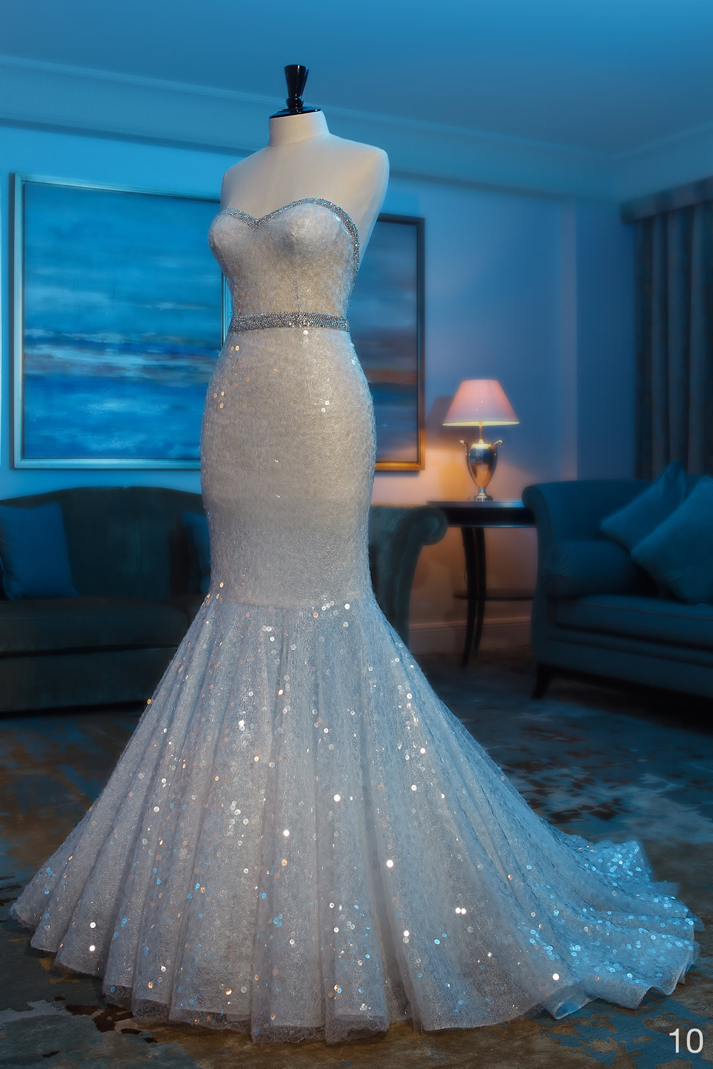 Mahfouz sequin mermaid wedding dress