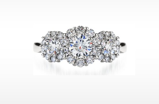 hearts on fire 3-stone engagement ring 7