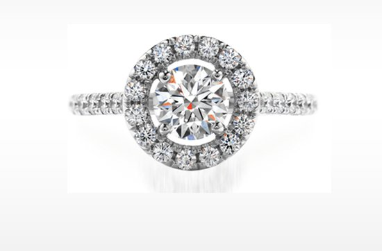 Hearts on Fire vintage-inspired engagement ring