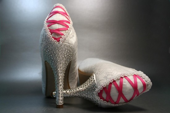 Custom wedding shoes from Design Your Pedestal