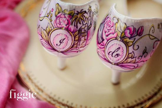 One of a kind wedding shoes personalized for the bride by Figgie 3