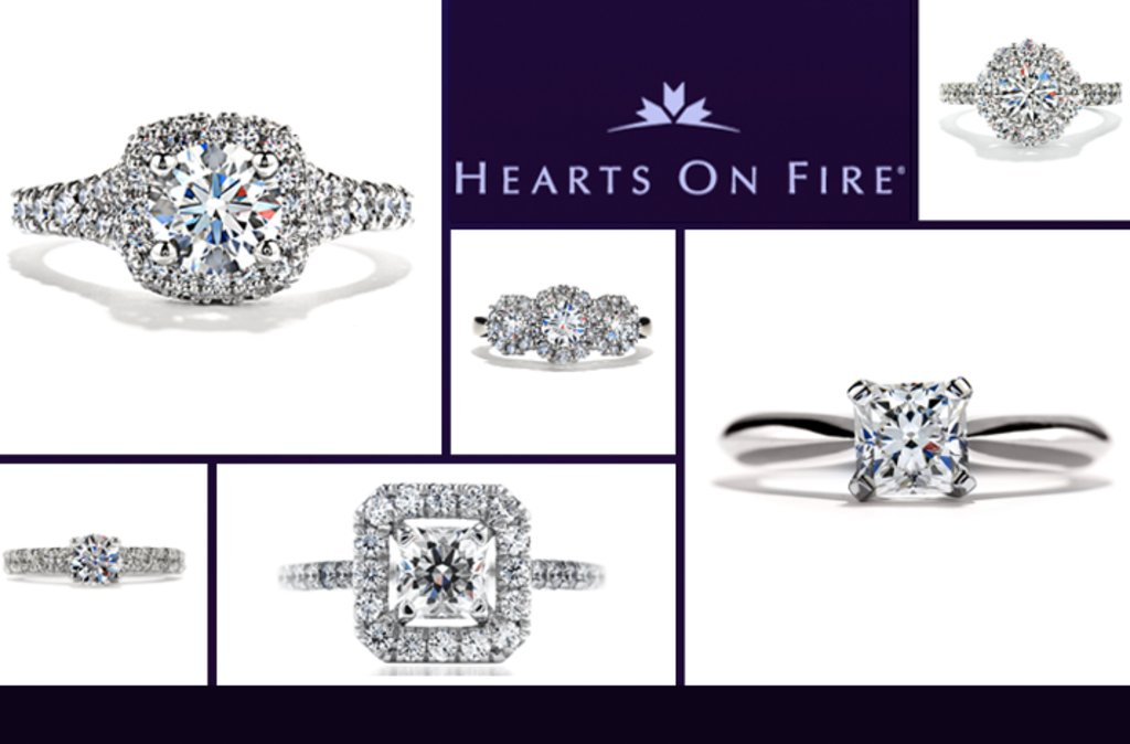 hearts on fire engagement ring wedding jewelry starburst diamonds