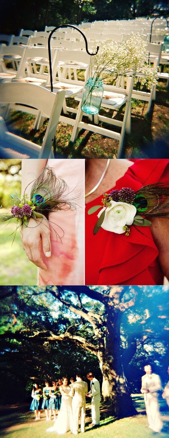 Real weddings, Austin, TX- outdoor ceremony, DIY wedding flowers