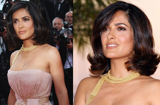 Short wedding hairstyles from the red carpet- Salma Hayek