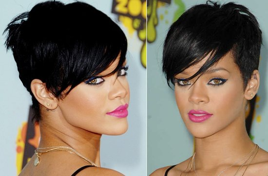 Short wedding hairstyles from the red carpet- Rihanna